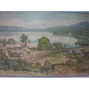 Singkarak Lake (water colour)