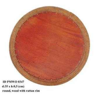 wooden Placemats round