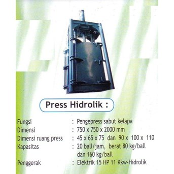 MESIN PRESS HIDROLIK