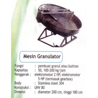 MESIN GRANULATOR