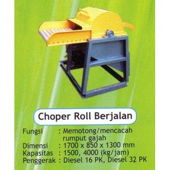 MESIN CHOPPER ROLL BERJALAN (CONVEYOR)