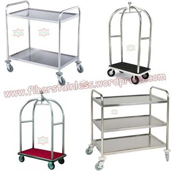 trolley hotel stainless, bellboy trolley, trolley tiga susun stainless, food trolley, luggage trolley, bellman trolley stainless, trolley piring stainless, trolley restaurant, Trolley Stainless