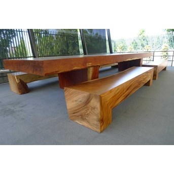 wooden dining furniture. Merbau Wood Dining Table And Trembesi Bench Wooden Furniture .