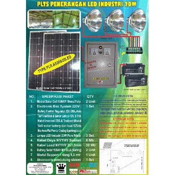 PLTS PENERANGAN INDUSTRI LED 20W