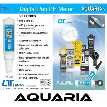 LUTRON digital pen pH meter PH-222