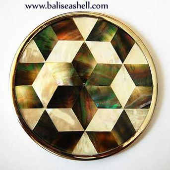 glassware from mother of pearl inlay