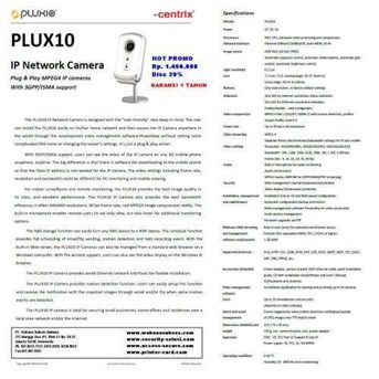 IP Network camera PLUXIO ( Centrix ) PLUX10