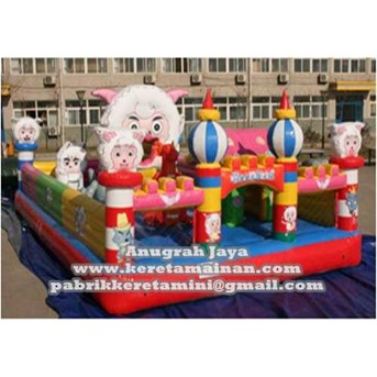 Istana Balon Happy Sheep 5x8m
