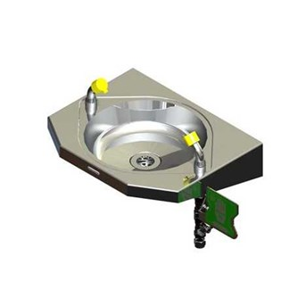 Stainless Steel Wall Mounted Eye Wash Hand Operated