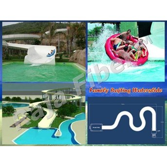 Seluncuran Air Waterpark Familiy Rafting Slide