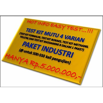 TEST KIT MUTU PANGAN 4 VARIAN ( PAKET INDUSTRI)