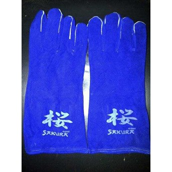 WELDING GLOVES 14 INCH BLUE KW-1