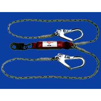 CIG Fall Protection CIG19646-1 -Rope Type Shock Absorbing Lanyard ( Twin Tails)