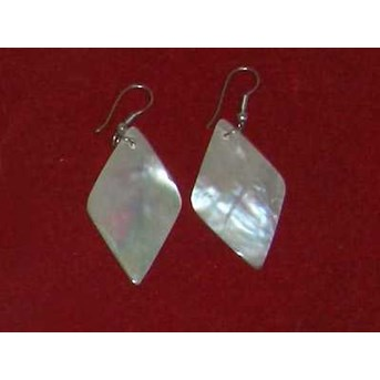 Mop Shell Earring With Stainless / Anting Kerang