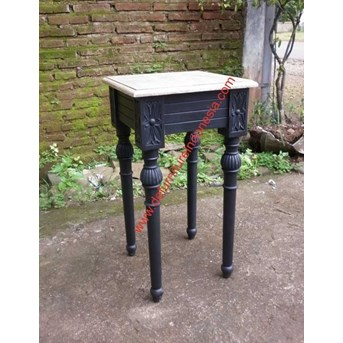 Painted furniture high leg bedside table indonesia furniture | defurnitureindonesia DFRIBT-53