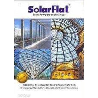 Polycarbonate Solar Flat Clear - Colour - Plain - Embosed