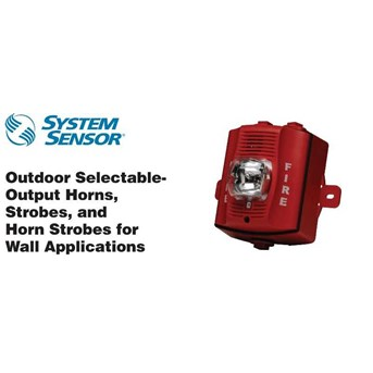 System Sensor P2RK 2 WIRE HORN STROBE STD CANDELA OUTDOOR RED