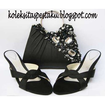 Sandal Pesta Tas Pesta - Clutch Bag Matching Kode SP11 dan KB16