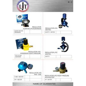 R-3 Regulator kompor LPG, Regulator kosangas, Destec, Kenmaster
