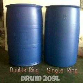drum plastik 200 ltr baru single ring dan double ring