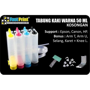TABUNG ( INK TANK) PLASTIK 4 WARNA 50ML