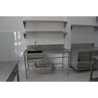 Meja Sink   Wastafel Stainless   Single Sink With Open Front Bar