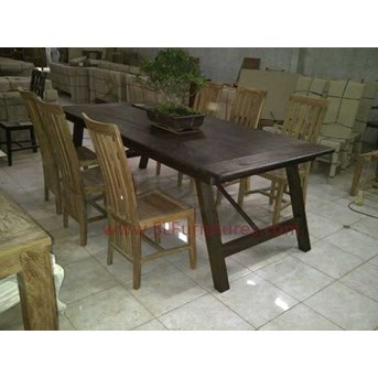 Meja Makan Jati Model Lipat ( Folding Teak Dining Table)