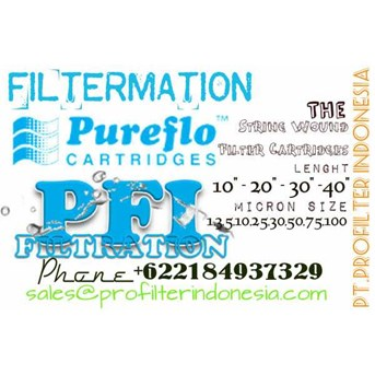 Pureflo String Wound Filter Cartridge Benang Polypropylene