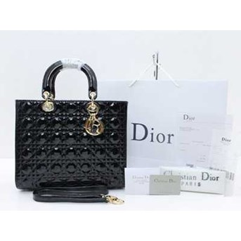 Tas Christian Dior Cannage Large Patent