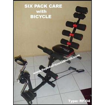 SIX PACK CARE WITH BICYCLE ( ALAT SIT UP + SEPEDA STATIS)