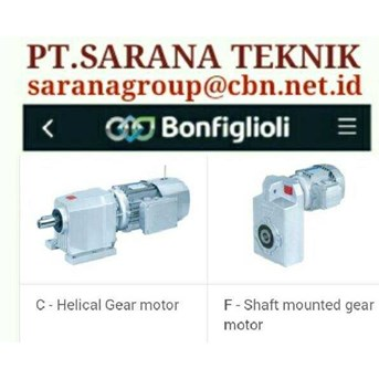 SELL BONFIGLIOLI GEAR MOTOR HELICAL BEVEL PT SARANA TEKNIK BONFIGLIOLI WORM GEAR MOTOR- GEAR MOTOR PLANETARY - GEARBOXES