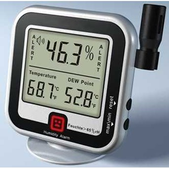 Humidity Alert and Thermometer, Dew Meter AMT-123