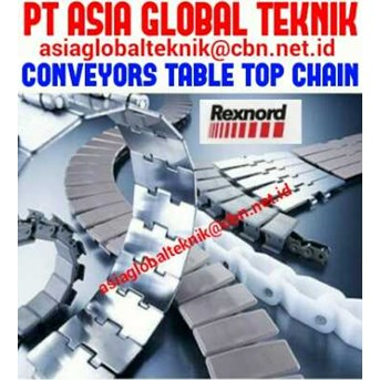 REXNORD CONVEYORS TABLE TOP CHAINS. PT ASIA GLOBAL TEKNIK