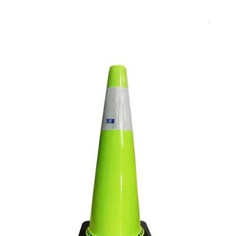 Rubber Traffic Cone Fluorescent Green 90cm