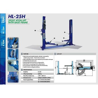 TWO POST LIFT BASE FRAME HESHBON HL-25H (LIFT PERBAIKAN MOBIL)