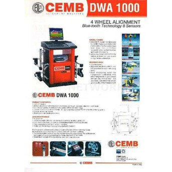 SPOORING / WHEEL ALIGNMENT 8 SENSOR CEMB DWA-1000