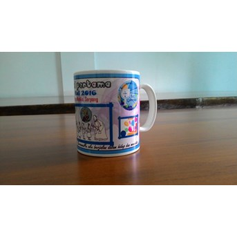 Mug 11 oz putih bone super white