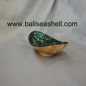 Bowl perahu mini paua mix