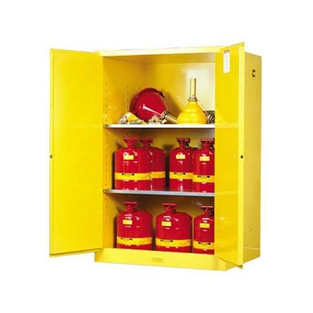 JUSTRITE Yellow Safety Cabinet For Flammable.