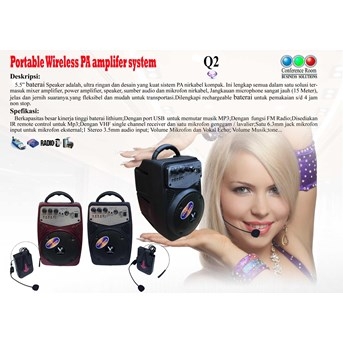 Portable Wireless PA Amplifer Q2