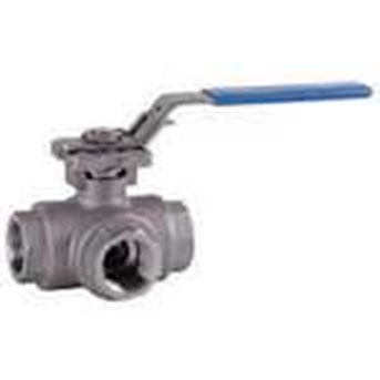 BEE- 3-Way ball valve made of stainless steel