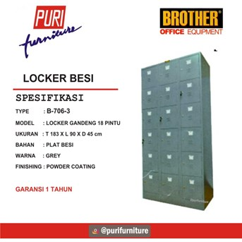 Locker Besi Brother B-706-3
