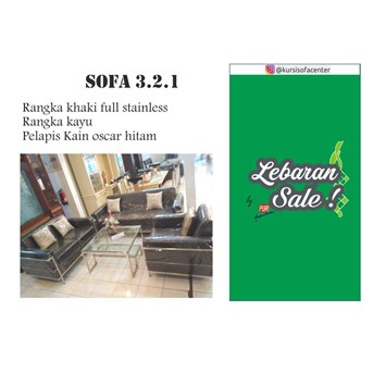 Sofa Minimalis Oscar 3-2-1 by Puri Furniture