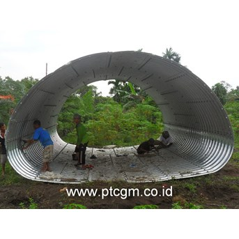 Corrugated Steel Pipe Armco Type Multi Plate Pipe Arches