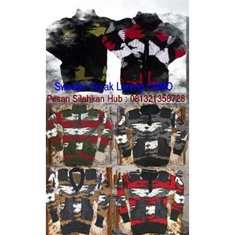 Sweater Rajut Army - Loreng TNI
