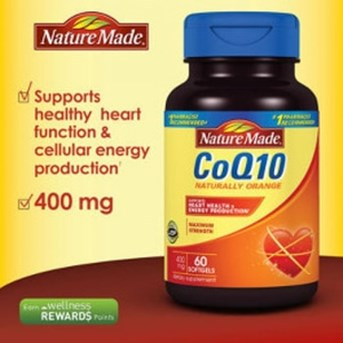Nature Made CoQ10 400 mg., 60 Softgels.