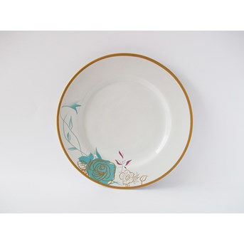 Piring Makan Tipe Gold Abstract Floral