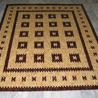 Karpet kayu wooden carpet 90301 MP 2 x 2,5 meter