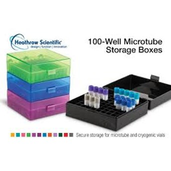 100-Well Microtube Storage Boxes