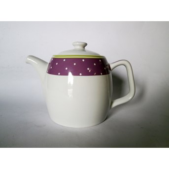 800ml Teapot (teko) + tutup desain Purple Dot AW 282
